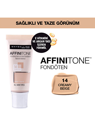 Maybelline Affinitone - 14 Creamy Fondöten