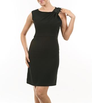 Cotton Bar Siyah Elbise