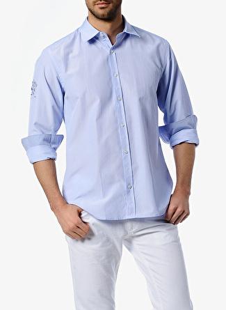 Asymmetry Mavi Gömlek