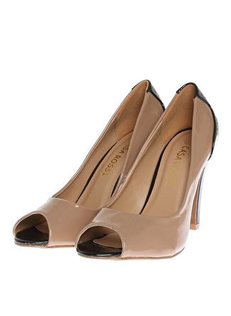 VES DERİ Beyaz Topuklu Ayakkabı