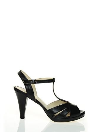 Cotton Bar Siyah Topuklu Ayakkabı
