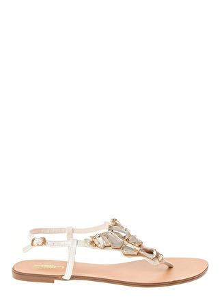 Dsn Beyaz Sandalet