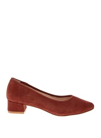 İnci Delikli Topuklu Ayakkabı