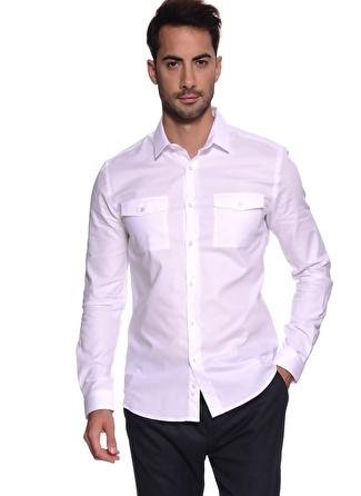 PENFORD Cepli Beyaz Gömlek