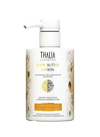 Thalia 300 ml Organik Macadamia Yağlı Body Butter Kuru Ve Yıpranmış Cilt Losyonu Nemlendirici