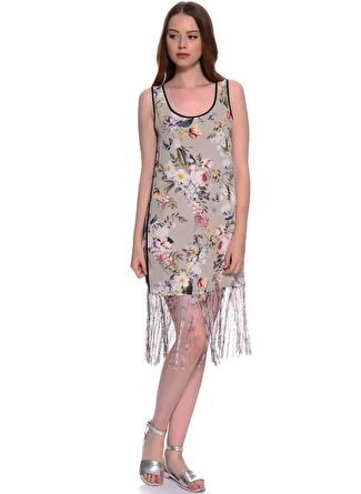Twist Desenli Kadın Elbise