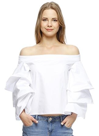 ENDLESS ROSE Düşük Omuzlu Bluz