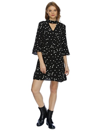 GLAMOROUS Yaka Detaylı Elbise