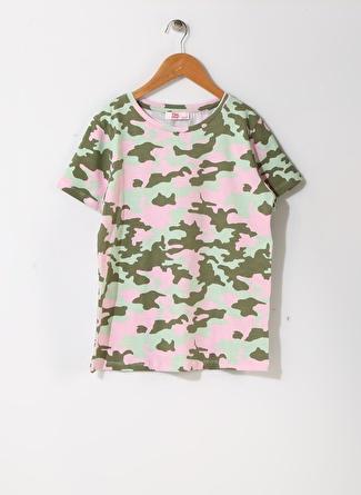 Pink&Orange Kız Çocuk Kamuflaj Desenli T-Shirt