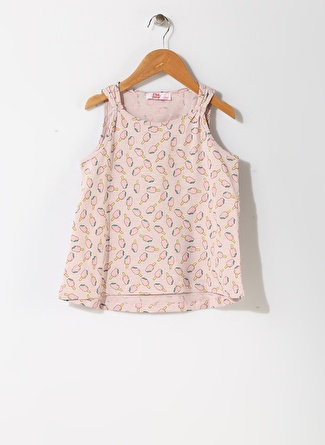 Pink&Orange Kız Çocuk Dondurma Desenli Lila T-Shirt