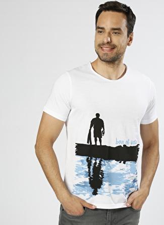 T-box Baskılı Beyaz T-Shirt