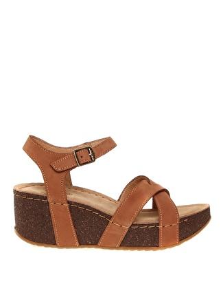 PENFORD Kadın Nubuk Taba Sandalet