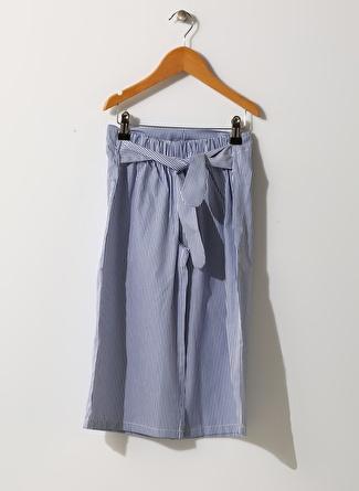 Limon Company Kız Çocuk Çizgili Mavi - Beyaz Pantolon