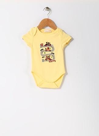 Mammaramma Bebek Karakter Baskılı Sarı Body