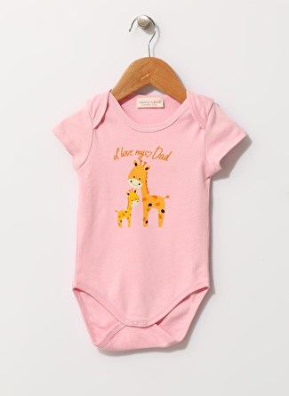 Mammaramma Zürafa Baskılı Pembe Body