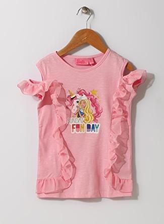 Barbie Kız Çocuk Karakter Baskılı Pembe T-Shırt