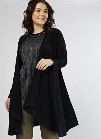 PAPİLLA Taş Detaylı Siyah Bluz