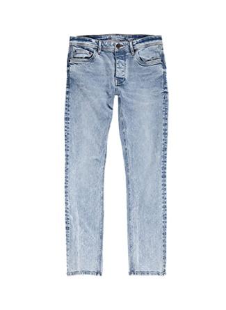 Loft Düşük Bel Buz Mavisi Klasik Pantolon