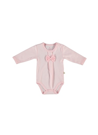 Bibaby Kız Bebek Fiyonk Detaylı Pembe Body