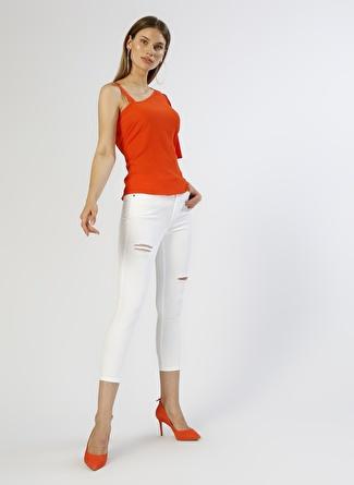 Mustang Skinny Beyaz Denim Pantolon