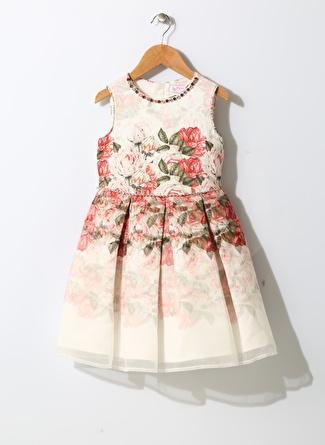 Pamina Kız Çocuk Çiçek Desenli Elbise