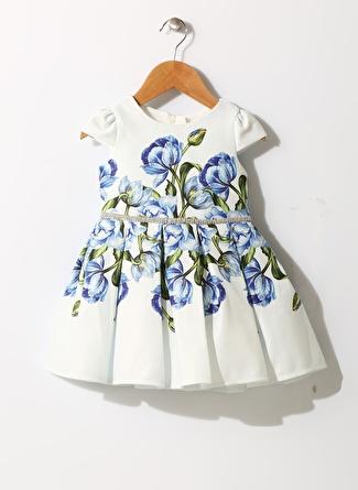 Pamina Kız Bebek Çiçek Desenli Elbise