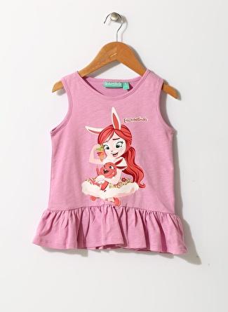 Enchantimals Kız Çocuk Karakter Baskılı Pembe T-Shirt