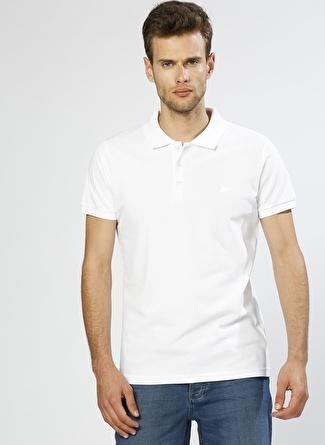 BAD BEAR Polo Yaka Beyaz T-Shirt