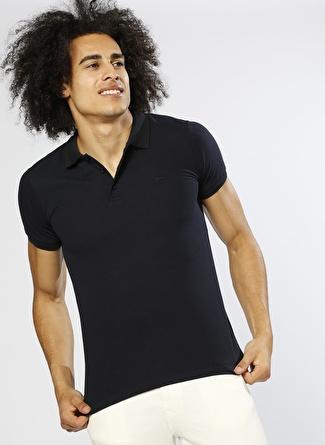 BAD BEAR Polo Yaka Lacivert T-Shirt