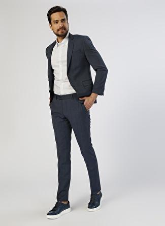 Pierre Cardin Desenli Lacivert Takım Elbise