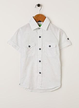 Limon Company Erkek Çocuk Cepli Beyaz Gömlek