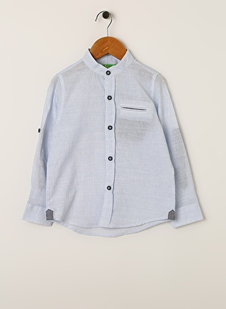 Limon Company Erkek Çocuk Çizgili Mavi - Beyaz Gömlek
