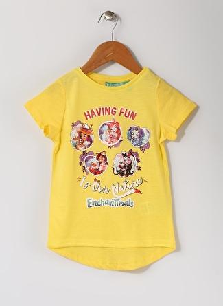 Enchantimals Kız Çocuk Baskılı Sarı T-Shırt