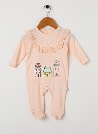 Bibaby Kız Bebek Ev İşlemeli Tulum