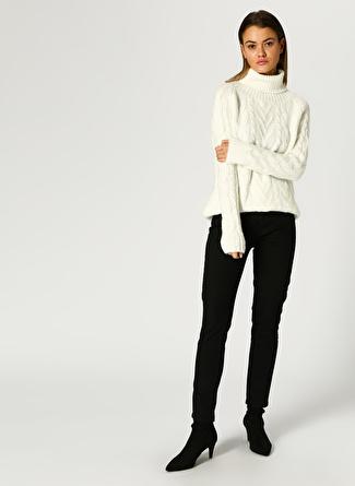 Limon Company Kadın Yüksek Bel Denim Siyah Denim Pantolon