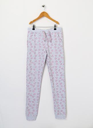 Pink&Orange Kız Çocuk Kalpli Gri Sweatpant