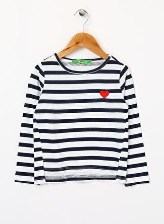 Limon Company Kız Çocuk Çizgili Lacivert T-Shirt