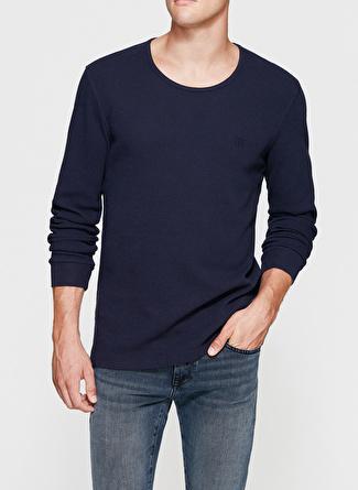 Mavi Bisiklet Yaka Penye Lacivert T-Shirt