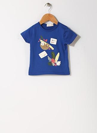 Mammaramma Erkek Çocuk Hayvan Baskılı Bisiklet Yaka T-Shirt