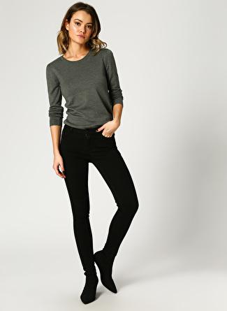 Vero Moda Mid Rise Slim Siyah Denim Pantolon