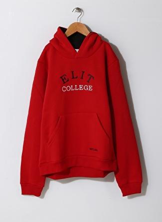 Elit Kolej Elit Kolej Kapüşonlu Kırmızı Unisex Çocuk Sweatshırt