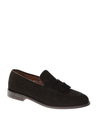 GEORGE HOGG Erkek Siyah Süet Tokalı Günlük Ayakkabı