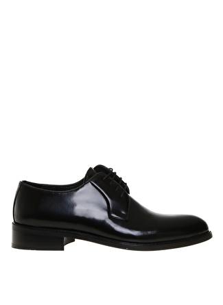 Cotton Bar Erkek Deri Siyah Klasik Ayakkabı
