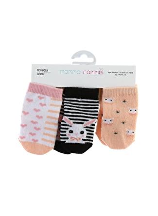 Mammaramma Kız Bebek 3'lü Spor Çorap