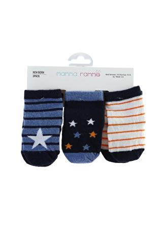 Mammaramma Erkek Bebek 3'lü Spor Çorap