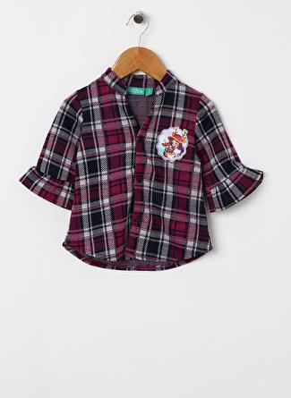 Enchantimals Erkek Çocuk Kareli Mor Bluz