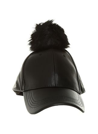 Fashion Friends Ponponlu Siyah Şapka