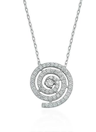Glorriasense Gümüş Lava Kolye