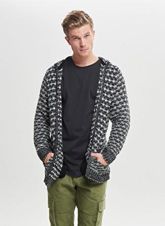 Only & Sons Nakışlı Siyah Sweatshirt