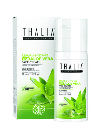Thalia %50 Aloe Vera Expert Care Repair& Hydrate Face 50 ml Onarıcı Krem